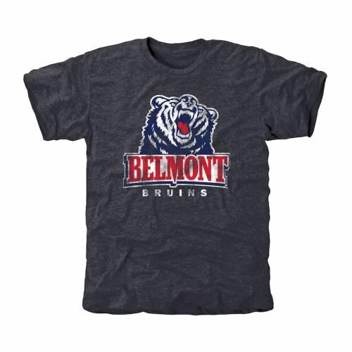 FANATICS BRANDED クラシック Tシャツ 紺 ネイビー 青 ブルー メンズファッション トップス カットソー メンズ 【 Belmont Bruins Classic Primary Tri-blend T-shirt - Navy Blue 】 Navy Blue