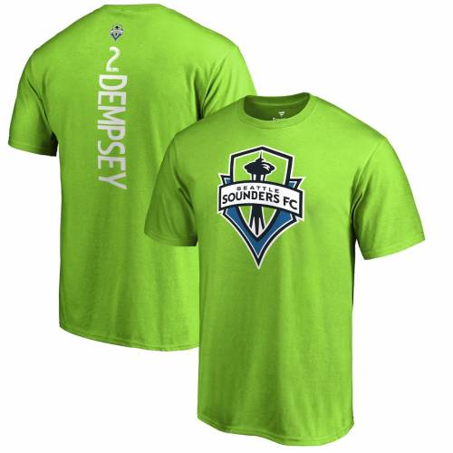 FANATICS BRANDED シアトル Tシャツ 緑 グリーン & 【 GREEN FANATICS BRANDED CLINT DEMPSEY SEATTLE SOUNDERS FC BACKER NAME NUMBER TSHIRT RAVE 】 メンズファッション トップス Tシャツ カットソー