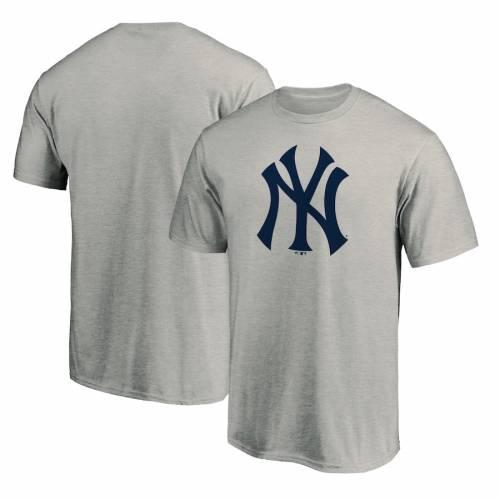 FANATICS BRANDED ヤンキース ロゴ Tシャツ 灰色 グレー グレイ メンズファッション トップス カットソー メンズ 【 New York Yankees Official Logo T-shirt - Heathered Gray 】 Heathered Gray