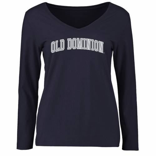 FANATICS BRANDED レディース スリーブ Tシャツ 紺 ネイビー レディースファッション トップス カットソー 【 Old Dominion Monarchs Womens Everyday Long Sleeve T-shirt - Navy 】 Navy