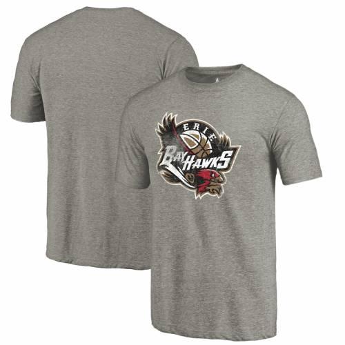 FANATICS BRANDED Tシャツ 灰色 グレー グレイ メンズファッション トップス カットソー メンズ 【 Erie Bayhawks Distressed Primary Tri-blend T-shirt - Gray 】 Gray