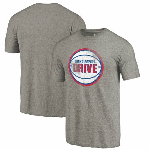 FANATICS BRANDED グランド Tシャツ 灰色 グレー グレイ メンズファッション トップス カットソー メンズ 【 Grand Rapids Drive Distressed Primary Tri-blend T-shirt - Gray 】 Gray