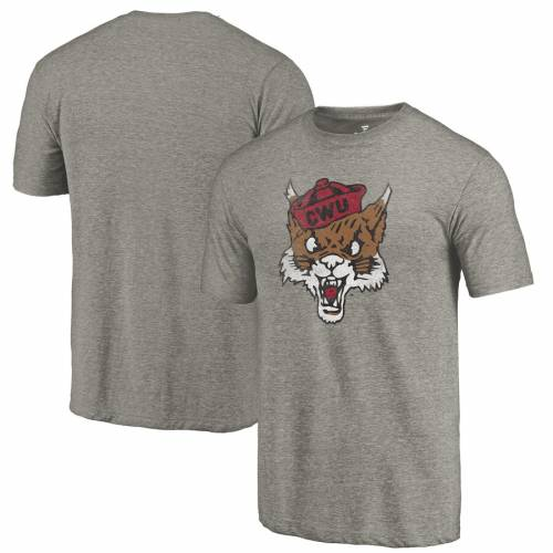 FANATICS BRANDED ワシントン カレッジ ロゴ Tシャツ 灰色 グレー グレイ メンズファッション トップス カットソー メンズ 【 Central Washington Wildcats College Vault Primary Logo Tri-blend T-shirt - Gray 】 Gr