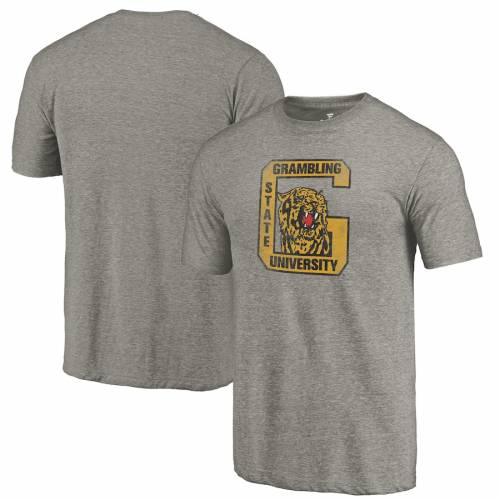 FANATICS BRANDED タイガース カレッジ ロゴ Tシャツ 灰色 グレー グレイ メンズファッション トップス カットソー メンズ 【 Grambling Tigers College Vault Primary Logo Tri-blend T-shirt - Gray 】 Gray