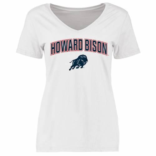 FANATICS BRANDED ハワード レディース Tシャツ 白 ホワイト レディースファッション トップス カットソー 【 Howard Bison Womens Proud Mascot T-shirt - White 】 White