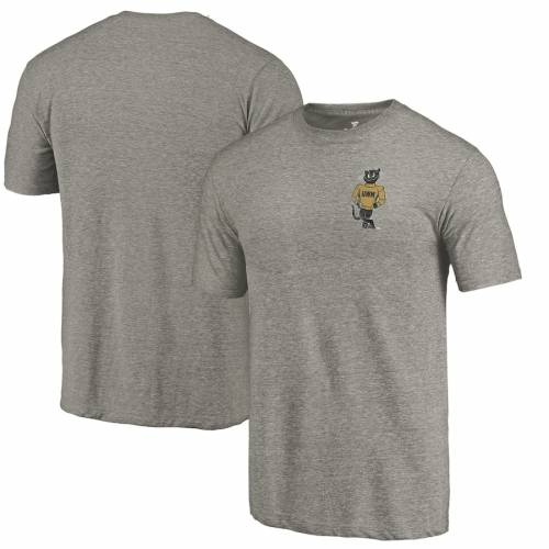 FANATICS BRANDED パンサーズ カレッジ Tシャツ 灰色 グレー グレイ メンズファッション トップス カットソー メンズ 【 Wisconsin-milwaukee Panthers College Vault Left Chest Distressed Tri-blend T-shirt - Gray 】