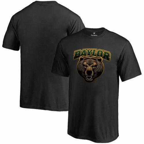 FANATICS BRANDED ベイラー ベアーズ Tシャツ 黒 ブラック メンズファッション トップス カットソー メンズ 【 Baylor Bears Midnight Mascot T-shirt - Black 】 Black