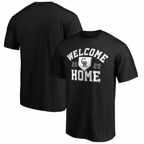 スポーツブランド カジュアル お買得 ファッション ファナティクス FANATICS BRANDED コロラド ロッキーズ Tシャツ メンズファッション トップス 黒色 TSHIRT ブラック HOME BLACK WELCOME 18%OFF カットソー
