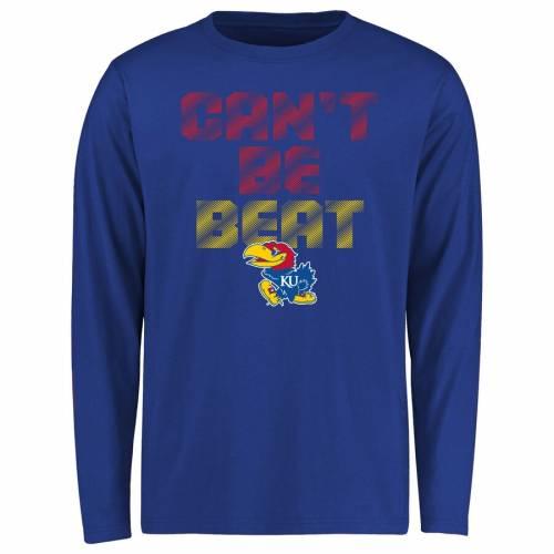 FANATICS BRANDED カンザス 子供用 スリーブ Tシャツ キッズ ベビー マタニティ トップス ジュニア 【 Kansas Jayhawks Youth Cant Be Beat Long Sleeve T-shirt - Royal 】 Royal