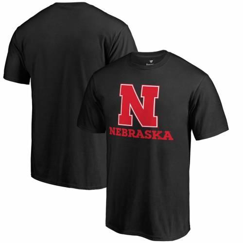 FANATICS BRANDED チーム Tシャツ 黒 ブラック メンズファッション トップス カットソー メンズ 【 Nebraska Cornhuskers Team Lockup T-shirt - Black 】 Black