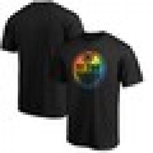 スポーツブランド カジュアル ファッション ファナティクス FANATICS BRANDED エドモントン オイラーズ チーム ロゴ Tシャツ 送料無料でお届けします トップス カットソー TSHIRT TEAM ブラック メンズファッション BLACK LOGO PRIDE 黒色 市販
