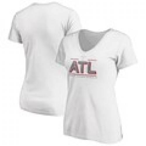 【送料無料/新品】 ファナティクス FANATICS BRANDED レディース Vネック Tシャツ 白色 ホワイト WOMEN&39;S 【 FANATICS BRANDED 2020 TOUR CHAMPIONSHIP ATL LINES VNECK TSHIRT WHITE 】 レディースファッション トップス Tシャツ カット, 杉の家 6d3ec4d0
