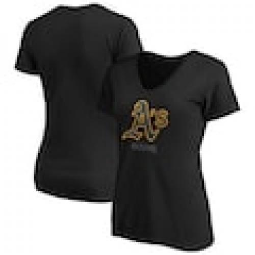 【史上最も激安】 ファナティクス FANATICS BRANDED オークランド アスレチックス レディース アラウンド Vネック Tシャツ 黒色 ブラック WOMEN&39;S 【 FANATICS BRANDED 2020 POSTSEASON AROUND THE HORN VNECK TSHIRT BLACK 】 レディ, aimcubeエイムキューブ- 89359cc3
