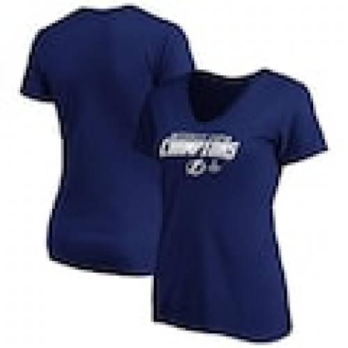 人気絶頂 ファナティクス FANATICS BRANDED ライトニング レディース Vネック Tシャツ 青色 ブルー タンパベイ WOMEN&39;S 【 FANATICS BRANDED 2020 STANLEY CUP CHAMPIONS TOP LINE VNECK TSHIRT BLUE 】 レディースファッション, セキカワムラ 2fb02c0f