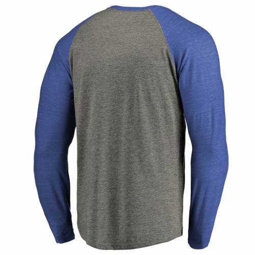 FANATICS BRANDED ダラス マーベリックス スリーブ ラグラン Tシャツ 灰色 グレー グレイ メンズファッション トップス カットソー メンズ 【 Dallas Mavericks Heritage Big And Tall Long Sleeve Tri-blend Rag