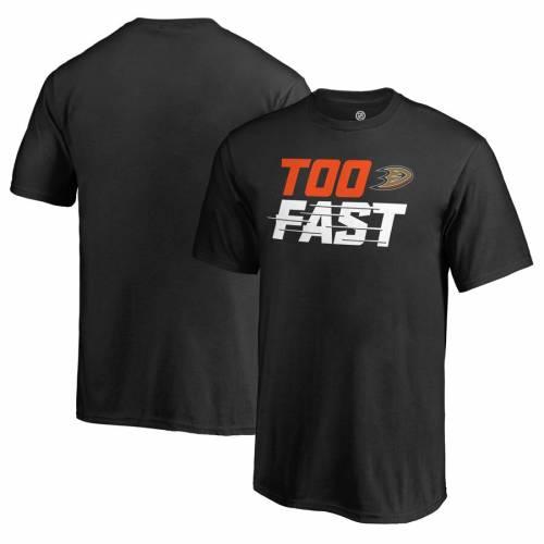 FANATICS BRANDED 子供用 ファスト Tシャツ 黒 ブラック キッズ ベビー マタニティ トップス ジュニア 【 Anaheim Ducks Youth Too Fast T-shirt - Black 】 Black