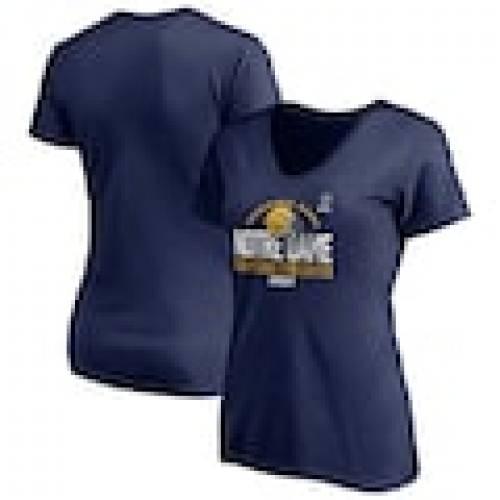 [定休日以外毎日出荷中] ファナティクス FANATICS BRANDED レディース カレッジ Vネック Tシャツ 紺色 ネイビー ノートルダム ファイティングアイリッシュ WOMEN&39;S 【 FANATICS BRANDED 2020 COLLEGE FOOTBALL PLAYOFF BOUND BACKFIELD VNECK, 野尻町 0d531805