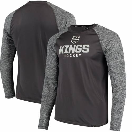 FANATICS BRANDED キングス スリーブ Tシャツ 灰色 グレー グレイ メンズファッション トップス カットソー メンズ 【 Los Angeles Kings Static Long Sleeve T-shirt - Black/heathered Gray 】 Black/heathered Gray