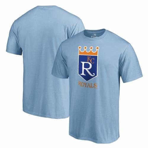 FANATICS BRANDED カンザス シティ ロイヤルズ クーパーズタウン コレクション Tシャツ 青 ブルー メンズファッション トップス カットソー メンズ 【 Kansas City Royals Cooperstown Collection Forbes T-s