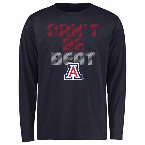FANATICS BRANDED アリゾナ 子供用 スリーブ Tシャツ 紺 ネイビー キッズ ベビー マタニティ トップス ジュニア 【 Arizona Wildcats Youth Cant Be Beat Long Sleeve T-shirt - Navy 】 Navy