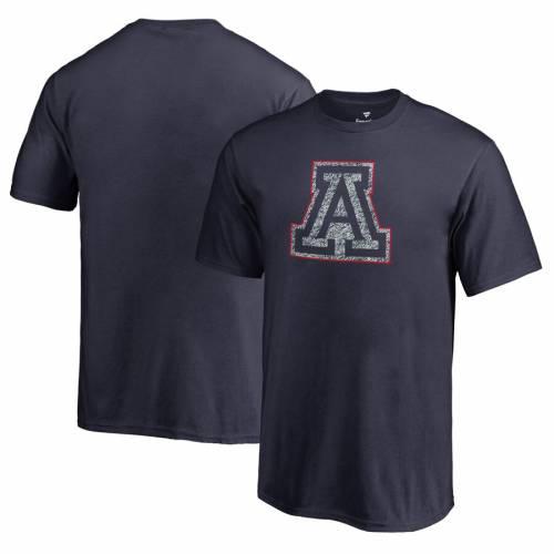 FANATICS BRANDED アリゾナ 子供用 ロゴ Tシャツ 紺 ネイビー キッズ ベビー マタニティ トップス ジュニア 【 Arizona Wildcats Youth Static Logo T-shirt - Navy 】 Navy