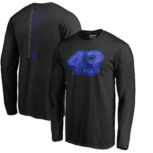 FANATICS BRANDED スリーブ Tシャツ 黒 ブラック メンズファッション トップス カットソー メンズ 【 Bubba Wallace Static Long Sleeve T-shirt - Black 】 Black