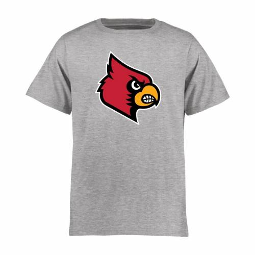 FANATICS BRANDED ルイビル カーディナルス 子供用 クラシック Tシャツ キッズ ベビー マタニティ トップス ジュニア 【 Louisville Cardinals Youth Classic Primary T-shirt - Ash 】 Ash