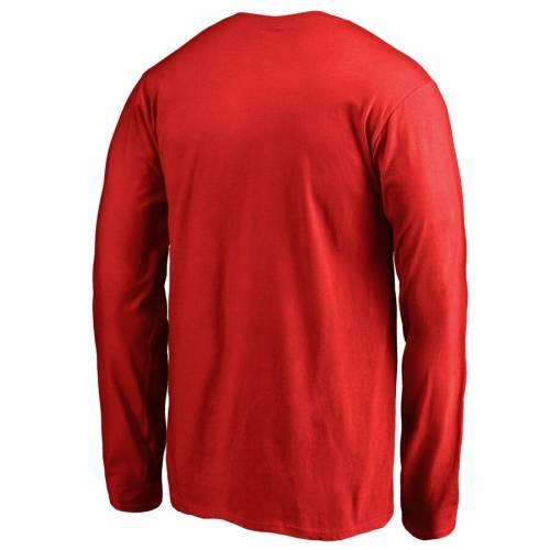 FANATICS BRANDED ワシントン 子供用 チーム スリーブ Tシャツ 赤 レッド キッズ ベビー マタニティ トップス ジュニア 【 Washington Capitals Youth Team Alternate Long Sleeve T-shirt - Red 】 Red