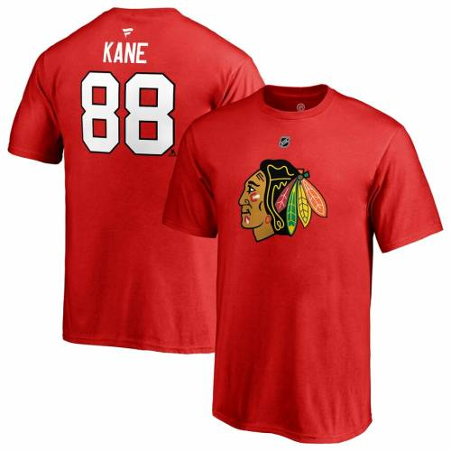 FANATICS BRANDED シカゴ 子供用 オーセンティック Tシャツ 赤 レッド キッズ ベビー マタニティ トップス ジュニア 【 Patrick Kane Chicago Blackhawks Youth Authentic Stack Name And Number T-shirt - Red 】 Red