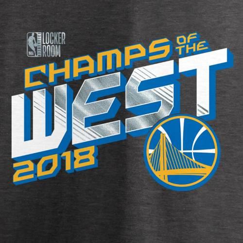 FANATICS BRANDED スケートボード ウォリアーズ Tシャツ ヘザー チャコール メンズファッション トップス カットソー メンズ 【 Golden State Warriors 2018 Western Conference Champions Locker Room Big And Tall T