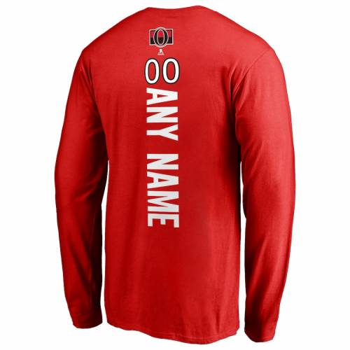 FANATICS BRANDED スリーブ Tシャツ 赤 レッド [CUSTOMIZED ITEM] 【 SLEEVE RED FANATICS BRANDED OTTAWA SENATORS PERSONALIZED PLAYMAKER LONG TSHIRT 】 メンズファッション トップス Tシャツ カットソー
