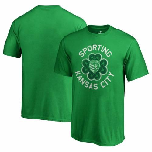 FANATICS BRANDED カンザス シティ 子供用 Tシャツ 緑 グリーン St. キッズ ベビー マタニティ トップス ジュニア 【 Sporting Kansas City Youth St. Patricks Day Luck Tradition T-shirt - Kelly Green 】 Kelly Green