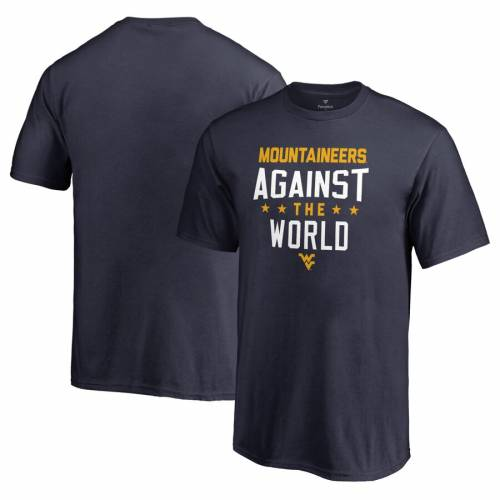 FANATICS BRANDED バージニア 子供用 Tシャツ 紺 ネイビー キッズ ベビー マタニティ トップス ジュニア 【 West Virginia Mountaineers Youth Against The World T-shirt - Navy 】 Navy