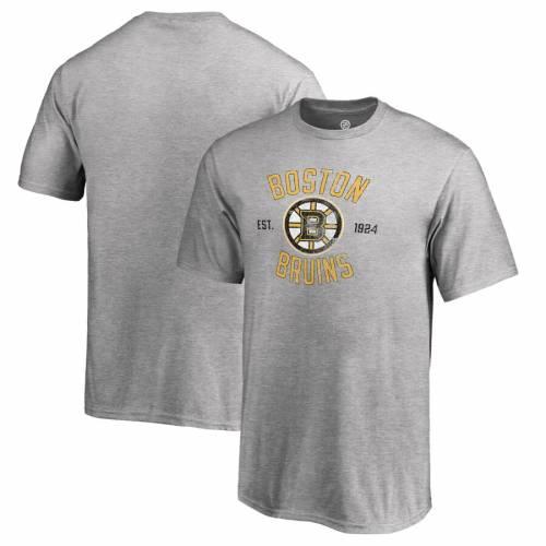FANATICS BRANDED ボストン 子供用 Tシャツ キッズ ベビー マタニティ トップス ジュニア 【 Boston Bruins Youth Heritage T-shirt - Ash 】 Ash