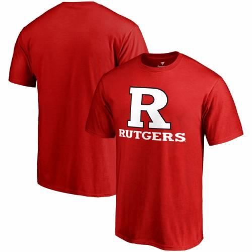 FANATICS BRANDED チーム Tシャツ メンズファッション トップス カットソー メンズ 【 Rutgers Scarlet Knights Team Lockup T-shirt - Scarlet 】 Scarlet