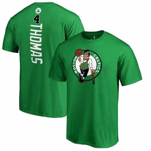 FANATICS BRANDED ボストン セルティックス Tシャツ 緑 グリーン メンズファッション トップス カットソー メンズ 【 Isaiah Thomas Boston Celtics Backer Name And Number T-shirt - Kelly Green 】 Kelly Green