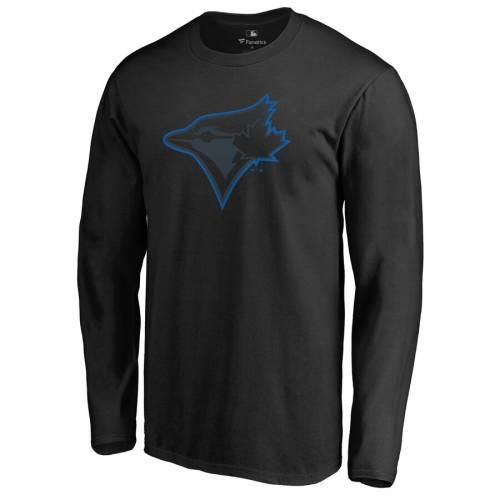 FANATICS BRANDED トロント 青 ブルー スリーブ Tシャツ 黒 ブラック メンズファッション トップス カットソー メンズ 【 Toronto Blue Jays Taylor Long Sleeve T-shirt - Black 】 Black