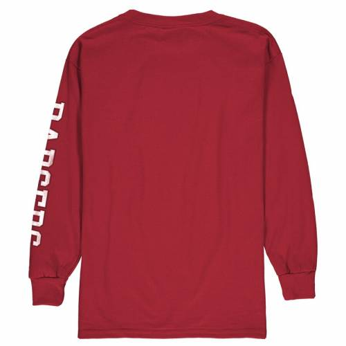 FANATICS BRANDED ウィスコンシン 子供用 ロゴ スリーブ Tシャツ 赤 レッド キッズ ベビー マタニティ トップス ジュニア 【 Wisconsin Badgers Youth Distressed Arch Over Logo Long Sleeve T-shirt - Red 】 Red