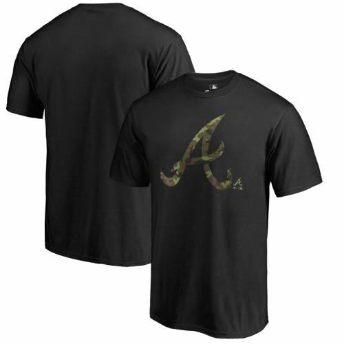 FANATICS BRANDED アトランタ ブレーブス プレスティージ Tシャツ 黒 ブラック メンズファッション トップス カットソー メンズ 【 Atlanta Braves Big And Tall Armed Forces Prestige Tri-blend T-shirt - Black