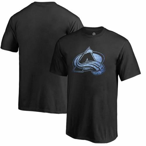 FANATICS BRANDED コロラド 子供用 Tシャツ 黒 ブラック キッズ ベビー マタニティ トップス ジュニア 【 Colorado Avalanche Youth Pond Hockey T-shirt - Black 】 Black