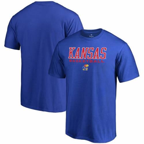 FANATICS BRANDED カンザス バスケットボール Tシャツ メンズファッション トップス カットソー メンズ 【 Kansas Jayhawks True Sport Basketball T-shirt - Royal 】 Royal