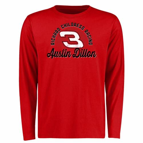 FANATICS BRANDED スリーブ Tシャツ 赤 レッド メンズファッション トップス カットソー メンズ 【 Austin Dillon Race Day Long Sleeve T-shirt - Red 】 Red