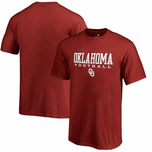 FANATICS BRANDED 子供用 Tシャツ キッズ ベビー マタニティ トップス ジュニア 【 Oklahoma Sooners Youth True Sport Football T-shirt - Crimson 】 Crimson