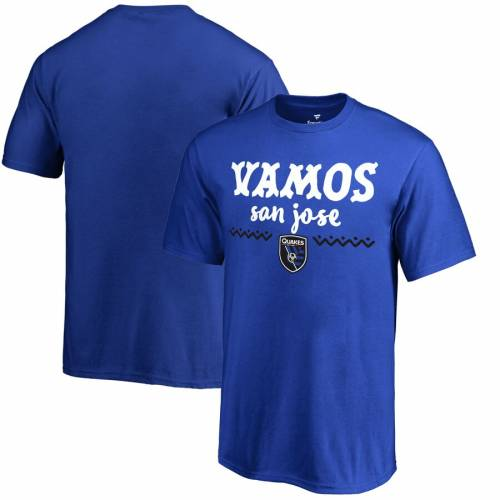 FANATICS BRANDED 子供用 Tシャツ 青 ブルー キッズ ベビー マタニティ トップス ジュニア 【 San Jose Earthquakes Youth Hispanic Heritage Lets Go T-shirt - Blue 】 Blue