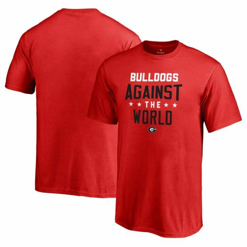 FANATICS BRANDED 子供用 Tシャツ 赤 レッド キッズ ベビー マタニティ トップス ジュニア 【 Georgia Bulldogs Youth Against The World T-shirt - Red 】 Red