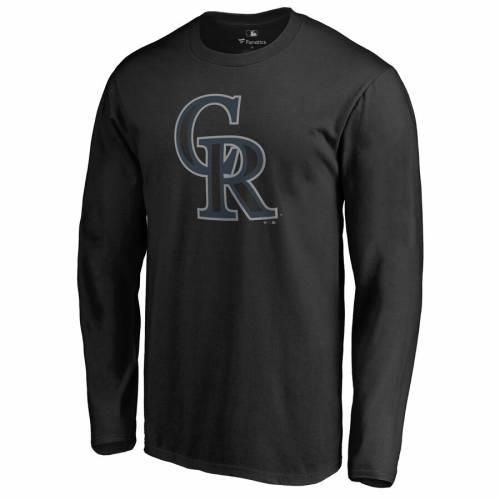 FANATICS BRANDED コロラド ロッキーズ スリーブ Tシャツ 黒 ブラック メンズファッション トップス カットソー メンズ 【 Colorado Rockies Taylor Long Sleeve T-shirt - Black 】 Black
