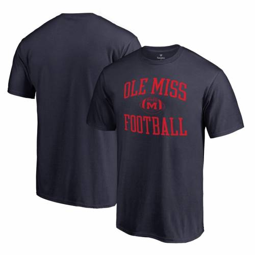 FANATICS BRANDED Tシャツ 紺 ネイビー & 【 NAVY FANATICS BRANDED OLE MISS REBELS FIRST SPRINT BIG TALL TSHIRT 】 メンズファッション トップス Tシャツ カットソー