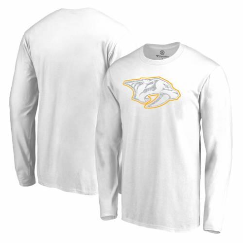 FANATICS BRANDED 白 ホワイト スリーブ Tシャツ メンズファッション トップス カットソー メンズ 【 Nashville Predators Big And Tall White Out Long Sleeve T-shirt - White 】 White