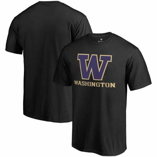 FANATICS BRANDED ワシントン チーム Tシャツ 黒 ブラック メンズファッション トップス カットソー メンズ 【 Washington Huskies Team Lockup T-shirt - Black 】 Black