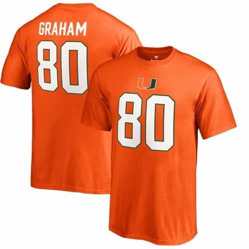 FANATICS BRANDED マイアミ 子供用 カレッジ Tシャツ 橙 オレンジ キッズ ベビー マタニティ トップス ジュニア 【 Jimmy Graham Miami Hurricanes Youth College Legends T-shirt - Orange 】 Orange